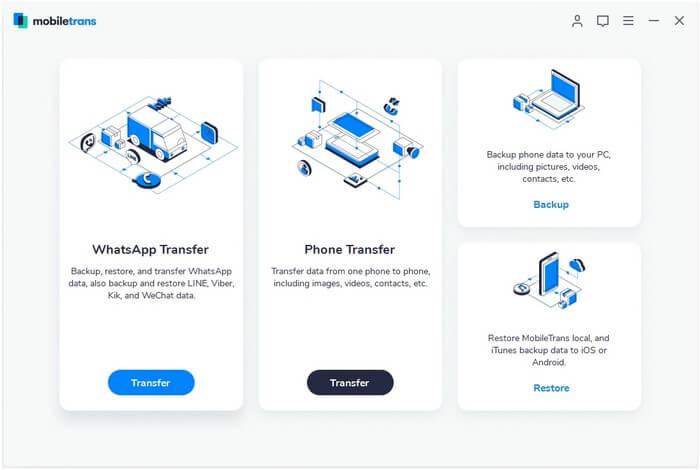 MobileTrans WhatsApp Transfer
